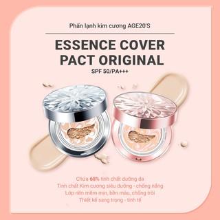 Phấn Nền Lạnh Kim Cương AGE20's Essence Cover Pact DIAMOND Pink SPF 50+/PA +++ 12.5g