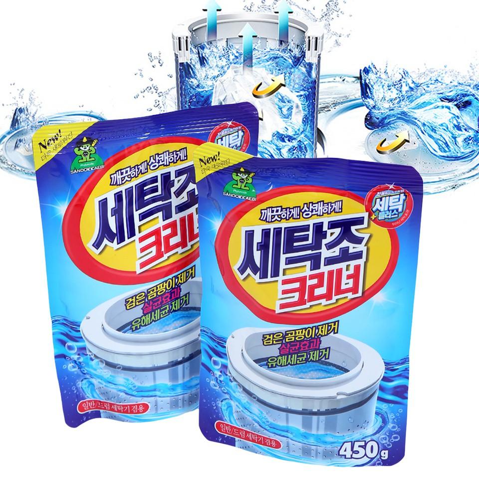 Bộ 3 Gói bột tẩy vệ sinh lồng máy giặt 450g cao cấp sạch bóng