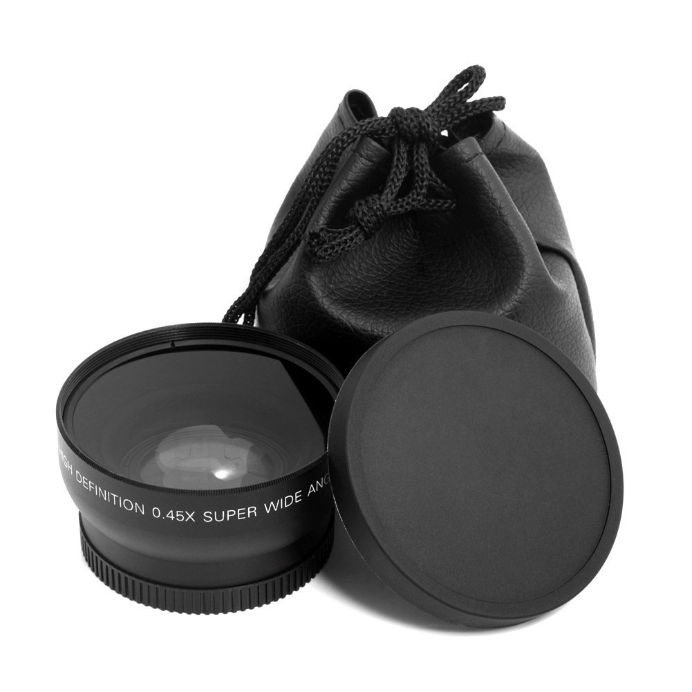 52 Mm 0.45 X Studio Home Wide Angle Lens Fish Eye Accessories Macro Photographic Picture Subject For Nikon D70 D3200