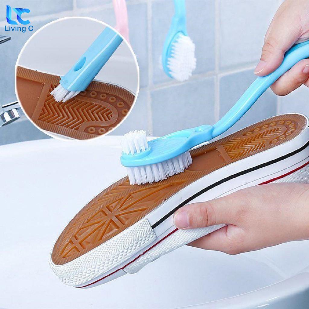 Bàn chải cọ giày 2 đầu Living C , dụng cụ vệ sinh giày dép tiện lợi _C24