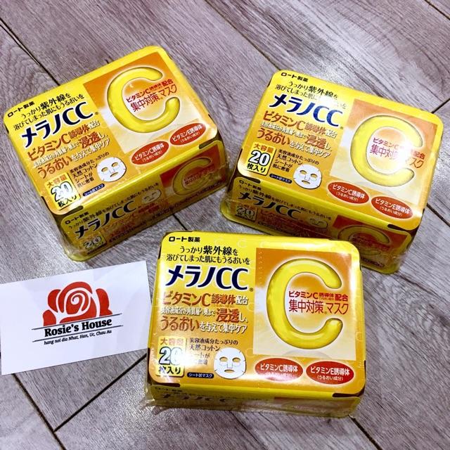 Mặt nạ Vitamin C làm trắng da CC Melano Nhật Bản