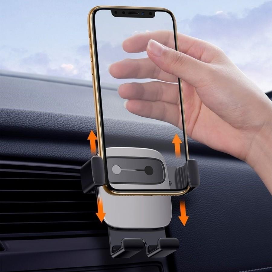 [Chính Hãng - Sẵn] Bộ đế giữ điện thoại trên xe hơi Baseus Cube Gravity Vehicle-Mounted Holder - LV599-AI New100%