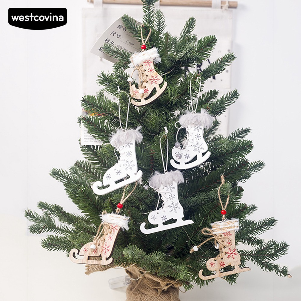WEST ?3Pcs Wooden Christmas Skating Shoes Pendant Xmas Tree Door Decor - 22127368 , 6111973389 , 322_6111973389 , 66000 , WEST-3Pcs-Wooden-Christmas-Skating-Shoes-Pendant-Xmas-Tree-Door-Decor-322_6111973389 , shopee.vn , WEST ?3Pcs Wooden Christmas Skating Shoes Pendant Xmas Tree Door Decor