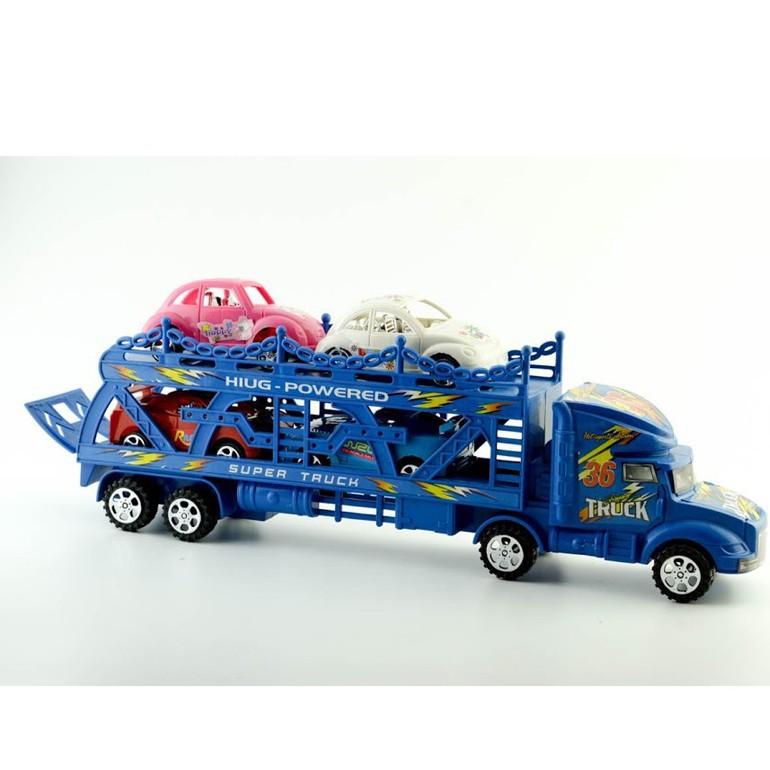 [RẺ NHẤT] Bộ sản phẩm đường đua 56 chi tiết + bộ xe tải chở ô tô con