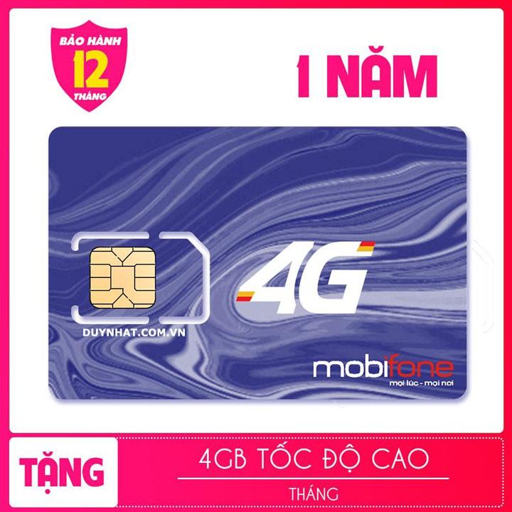 SIM 4G MOBI vào mạng trọn gói 1 năm không phải nạp tiền - Sim 3g 4g giá sinh viên