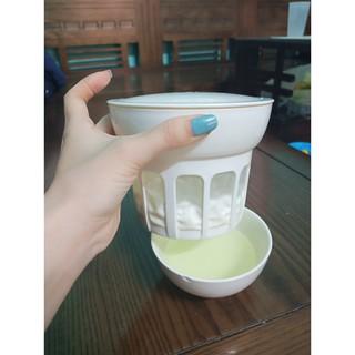 Bộ lọc tách whey làm sữa chua hy lạp phomai từ nấm kefir thumbnail
