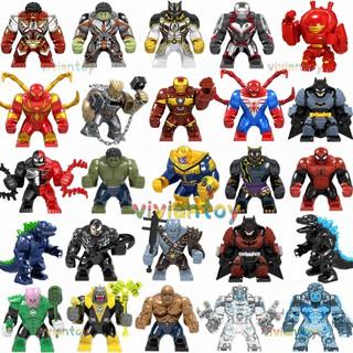 Lego Avengers Endgame Big Minifigures Iron Man Hulk Spiderman Batman Marvel Building Blocks Toys Gifts thumbnail
