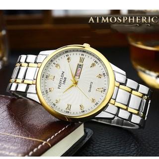 [Mã FASHIONRNK giảm 10K đơn 50K] Đồng hồ nam FEDYLON F1868 dây thép không gỉ cao cấp - 2 màu mặt thời trang thumbnail