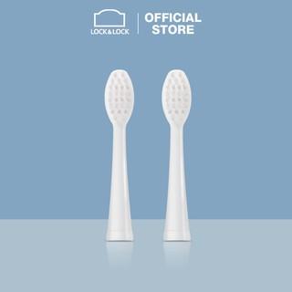 Đầu bàn chải điện Lock&Lock, Portable Electric toothbrush heads, 2pcs - màu trắng - ENR536