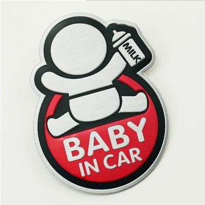 Tem BABY IN CAR trang trí xe hơi ô tô