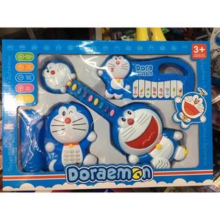 Đồ chơi trẻ em bộ đồ chơi 3 món âm thanh Doraemon