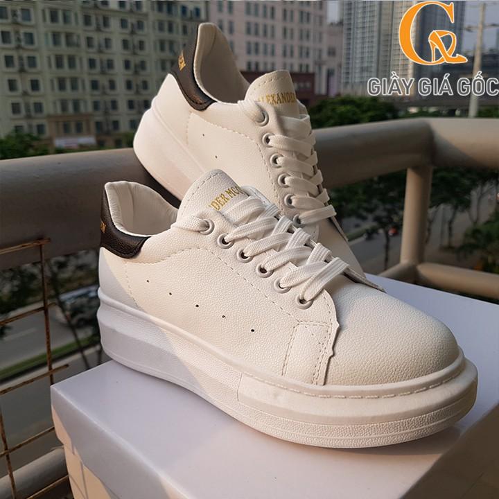 Giày Ulzzang nữ đế độn trắng gót đen thời trang phong