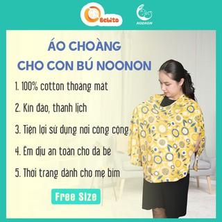 Áo Cho Con Bú Nơi Công Cộng 100% Cotton Cao Cấp-Khăn Choàng Che Cho Bé Ti Dùng Với Nhộng Chũn, Quấn Chũn, Túi Ngủ thumbnail