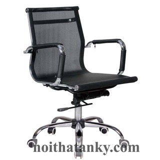 Ghế JS-023 lưng thấp, ghế văn phòng, nội thất phòng làm việc