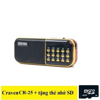 Loa radio mini Craven CR-25 nghe đài, nghe nhạc, nghe kinh phật thumbnail