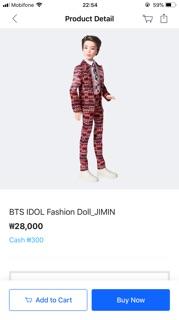 BTS DOLL OFFICIAL(Có sẵn)