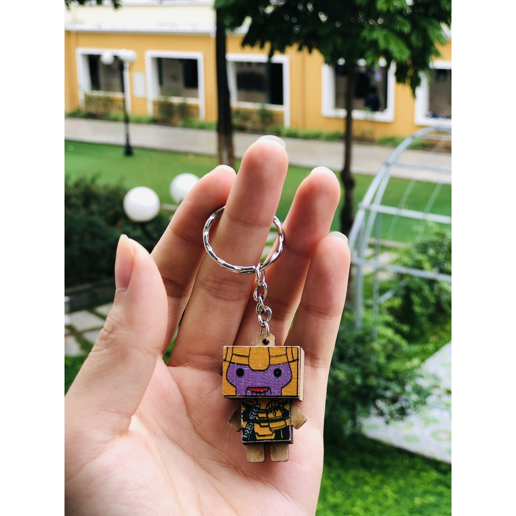 Móc khóa Danbo gỗ Siêu Anh HùngKÈM quà tặng giá trị 17.000đ
