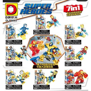 Mô hình lắp ráp Non Lego Super Hero Iron Man DLP 9093 ( 8 hộp) thumbnail