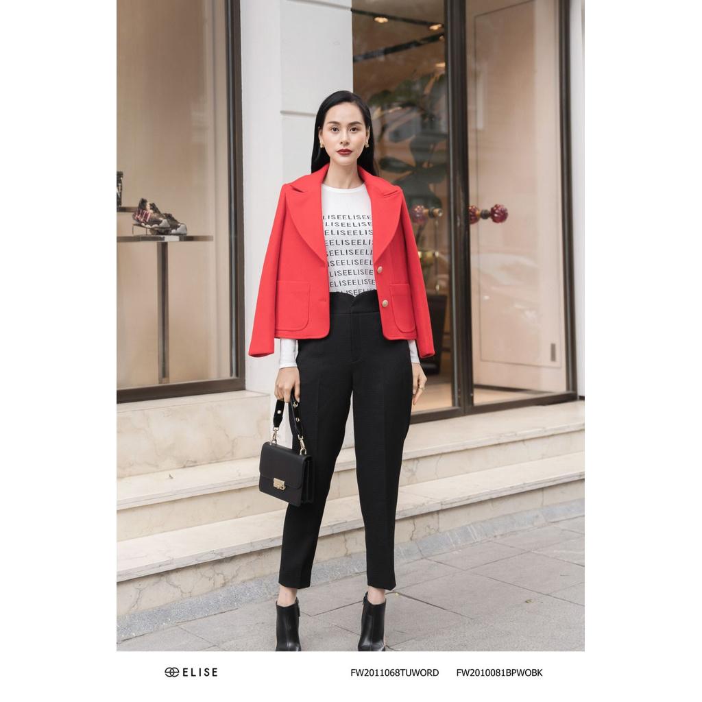 [Mã WABR250 giảm 10% đơn 250k] Áo vest dạ đỏ túi ốp Elise FW2011068TUWORD