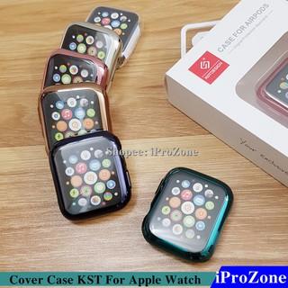 Ốp dẻo TPU viền mầu giả thép cho Apple Watch chính hãng KST chống sốc , chống vỡ phủ kín mặt + body