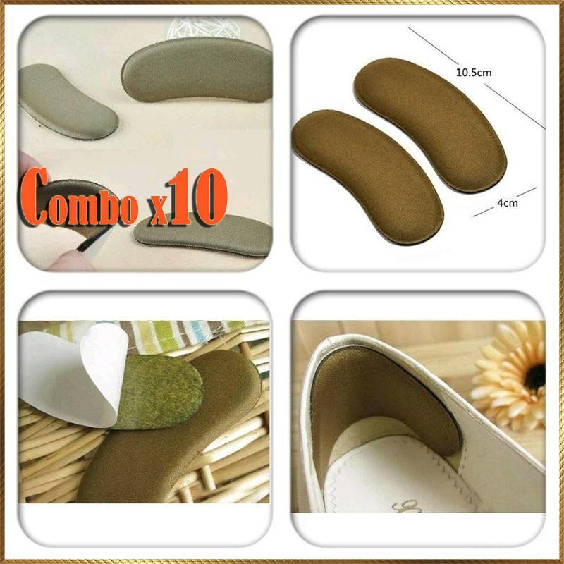 [⚡️ Sale ⚡️] lót giày chống hôi chân - Combo 10 đôi Miếng lót gót giày LG40 | Hàng Bán Chạy