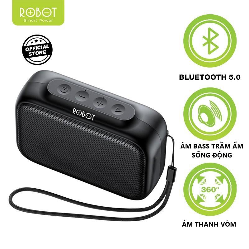 Loa Bluetooth Mini 5.0 ROBOT RB100 Hỗ trợ thẻ Micro SD & USB - BẢO HÀNH 1 ĐỔI 1 CHÍNH HÃNG