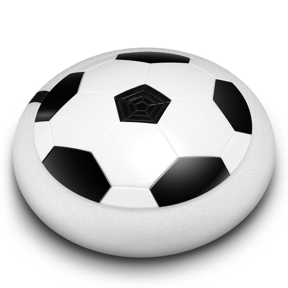 Air Power Soccer Disc LED Lights Electric Gliding Floating Football Indoor Outdoor Game Kids Toy