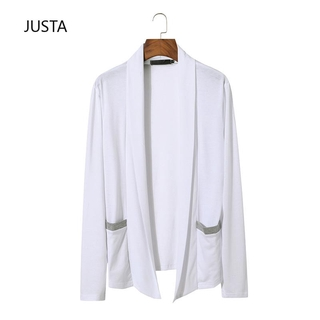fashion men's personality New less sweater button cardigan sleeve long