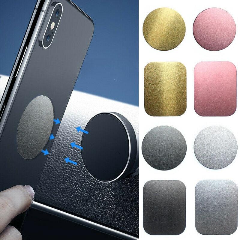 Sticker dán điện thoại bằng kim loại nối với đế giữ từ tính trên ô tô tiện dụng