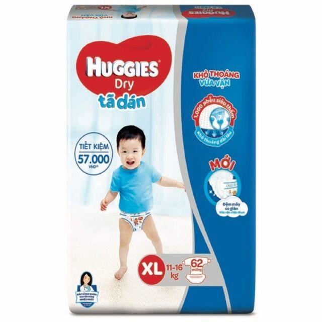 Tã dán Huggies XL62 (Đệm mây mới)