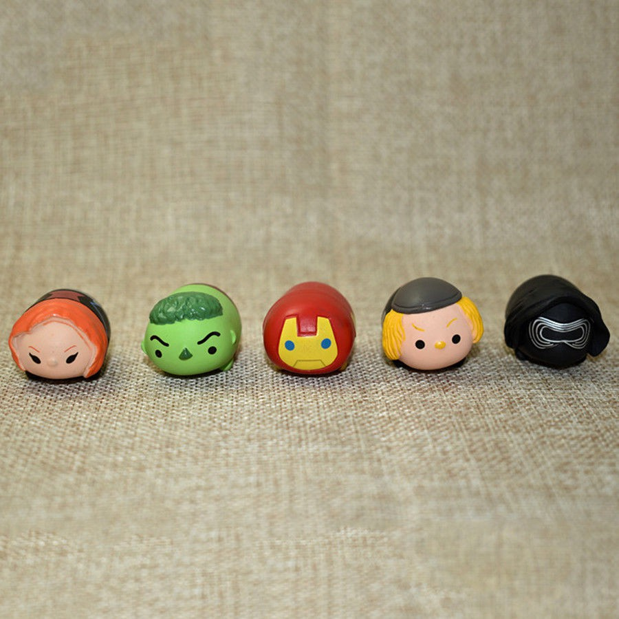 Set 10 mô hình đồ chơi mini PVC Iron Man Hulk Stormtroopers