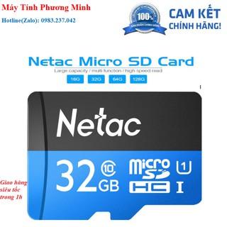 [Mã ELFLASH5 giảm 20K đơn 50K] Thẻ Nhớ Netac 32GB U1 Micro SDHC Dùng Cho Camera- hàng chính hãng