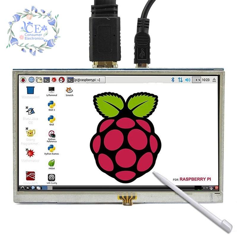 Màn Hình Lcd Hdmi Cảm Ứng 5 Inch 800x480 Cho Banana Pi Raspberry Pi 3 / 2 El B / B +
