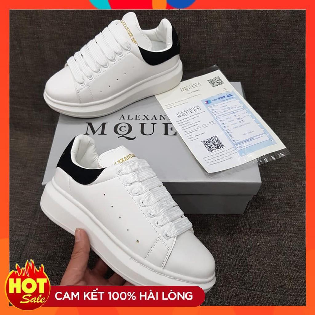 Giày MC queen 💟FREESHIP💟 Giày MC queen Đen Đế Trắng Hàng Cao Cấp Form Nam Nữ Fullsize 36-43