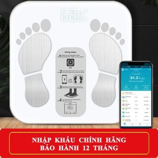 [Thế Hệ 2020] Cân Điện Tử Sức Khỏe Thông Minh Digital Body Fat Scale 2020 Phân Tích Lượng Mỡ…Sử Dụng App Tiếng Việt