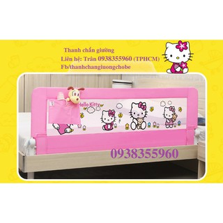 Thanh chắn giường màu hồng Kitty