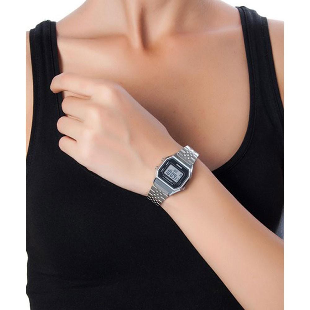Đồng hồ nữ dây kim loại chính hãng casio LA680WA-1DF