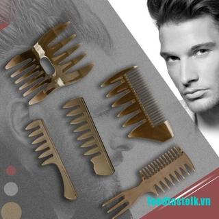 《✿vvvn》Men's Vintage Oil Head Comb New Oil Head Shape Partner Comb Wide Tooth