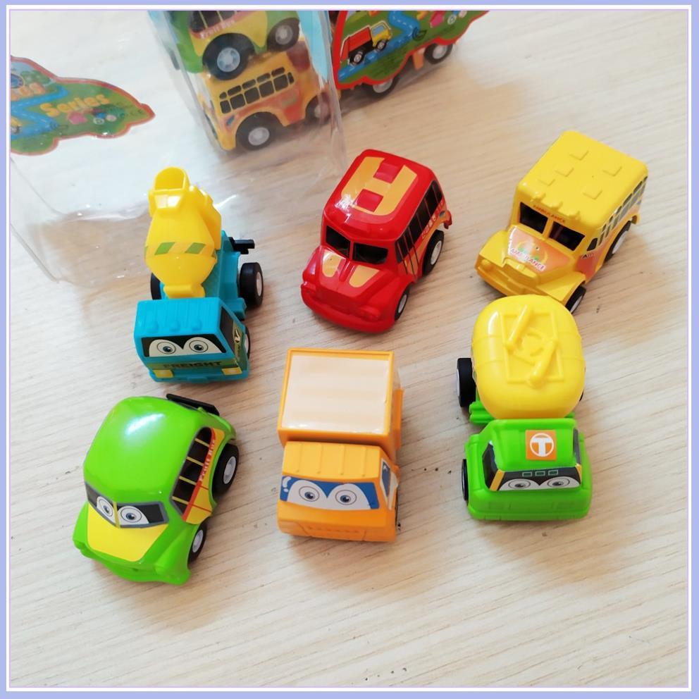 Bộ 6 Xe ô tô nhí chạy cót cho bé