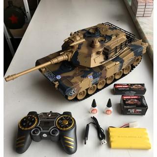 Đồ chơi xe tăng điều khiển bắn đạn nhựa M1A2 Abrams
