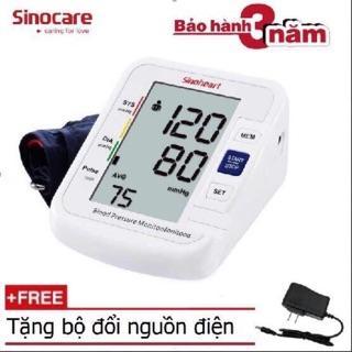 Máy đo huyết áp bắp tay Sinoheart BA-801 + Tặng bộ chuyển đổi nguồn