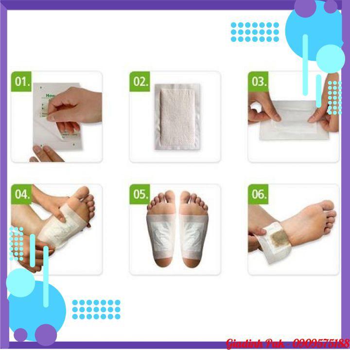 10 Miếng Dán Chân Thải Độc Detox Lanna Foot Patch