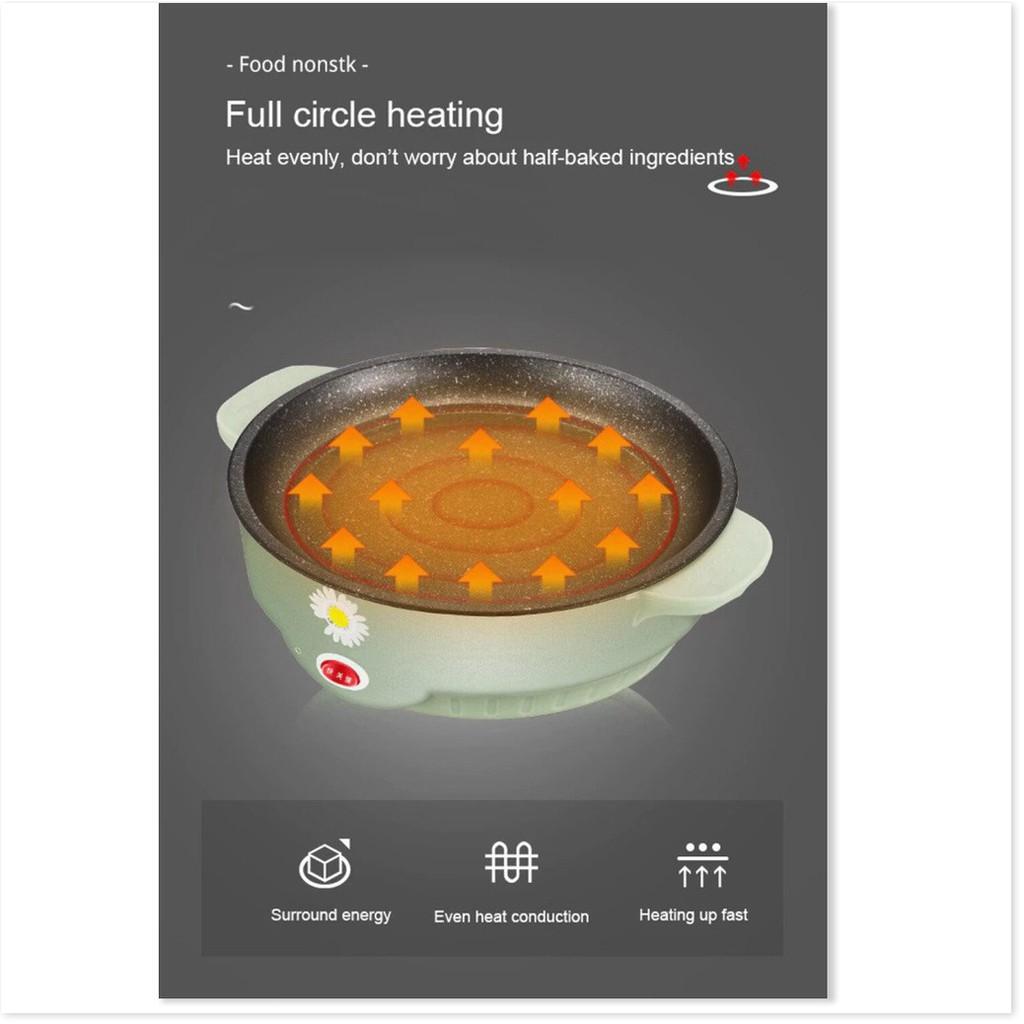 Bếp nướng điện FREESHIP Bếp nướng điện không khói Hàn Quốc hình tròn mini, vỉ nướng chống dính 9778