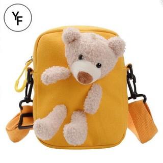 Túi đeo chéo hình gấu 🐻🐻nhồi bông phong cách Hàn Quốc TÚI XINH CHO BÉ 009