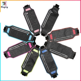 [RUY] Ultra-thin Outdoor Sports Bag Lycra Breathable Running Pockets phone waist holder sky bag blue 4-6 inch Universal Music Phone Pouch Pockets