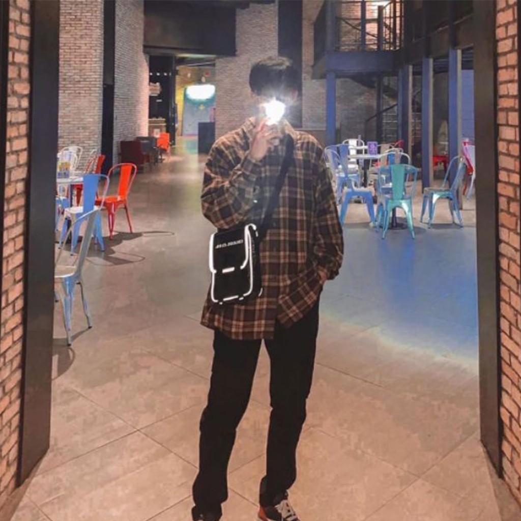Túi đeo chéo trong suốt phản quang mini bag - Rado.vn