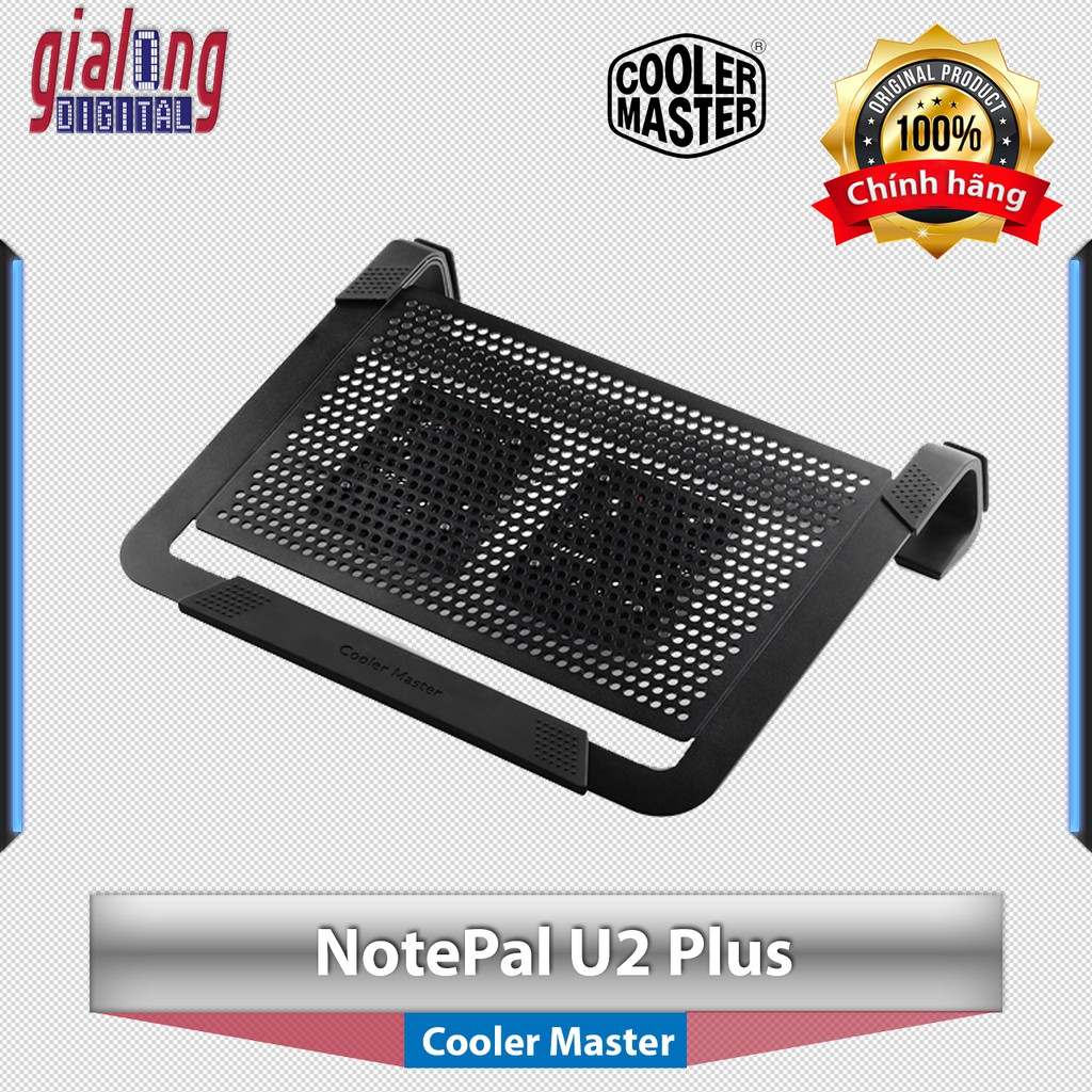 Đế tản nhiệt Laptop Cooler Master NotePal U2 Plus dùng cho máy tính xách tay