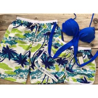 Quần đôi couple vải dù đi biển kèm áo bikini thun lạnh thumbnail