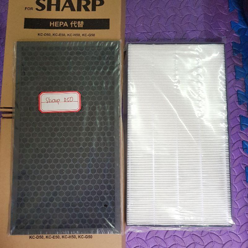 (Loại 1 ) Màng lọc không khí Sharp màng hepa màng than sharp D E F G H J K 40 50