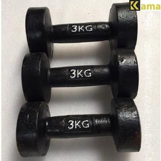 [Mã FAMAYMA2 giảm 10K đơn 50K] Tạ tay đúc nguyên khối 3kg